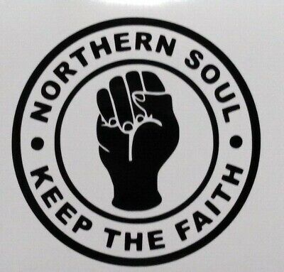 NORTHERN SOUL . KEEP THE FAITH   X2  STICKER / CAR DECAL Free UK P&p • 2.80£