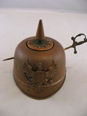 WW 1 German Helmet Inkwell • 79£