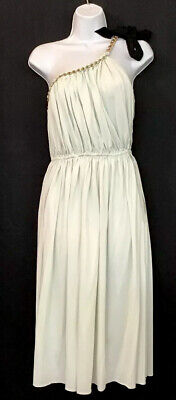 £433.87 • Buy Lanvin Dress Light Green Roman Style Gold Chain One Shoulder Strap Nwt Size 36/4