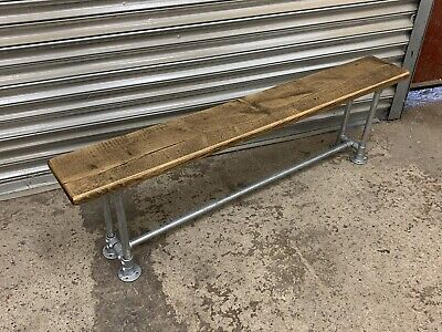 £120 • Buy Rustic Reclaimed Solid Wood/ Scaffold Board Industrial Style Bench Seat