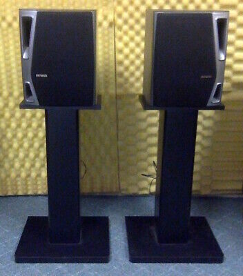 $49.99 • Buy AIWA Bookshelf Speaker System Model SX-NA94 W/Floor Stands – Set Of 2 (L/R)