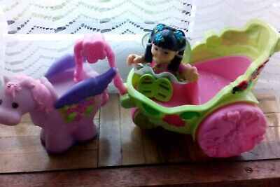 Fisher Price Little People Sonya Lee Fairy  Carriage Drawn By Pegasus • 4£