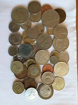 Collection Of Foreign Coins. • 1.25£