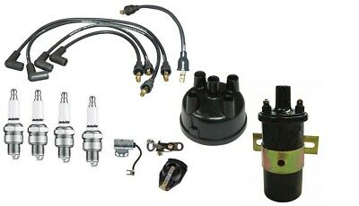 $ CDN90.44 • Buy Ford 8N Tractor 1950-52 Distributor Tune Up Kit W/ US Copper Wires & 12V Coil