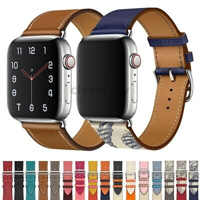 $ CDN11.10 • Buy For Apple Watch Series 5 4 3 2 1 Leather Wrist Band IWatch 38/42mm 40/44mm Strap