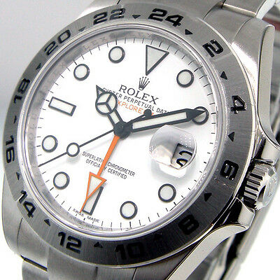 $ CDN13569.98 • Buy ROLEX EXPLORER II 216570 WHITE DIAL 42 Mm MENS STEEL OYSTER BRACELET