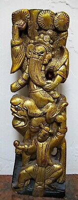 £47.08 • Buy Antique Chinese Hand Carved Statue.  Temple. Mostly Painted Gold