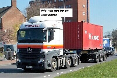 Truck Photo / Print Mercedes-benz Container Load Turners Av13 Lhn • 0.99£