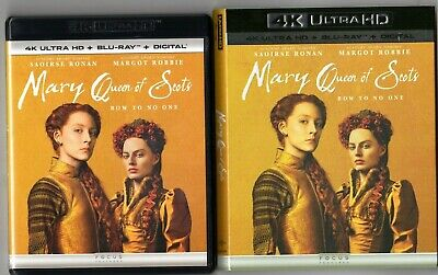 $16.99 • Buy Mary Queen Of Scots (4K Ultra HD Blu-ray Disc, 2019, Slip Cover) Margot Robbie