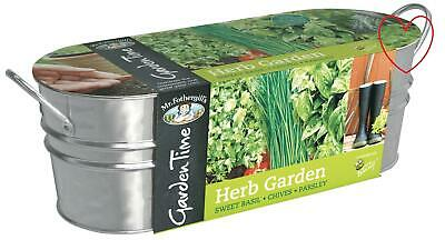 Window Herb Garden Pots Indoor Planter Home 3 Pots Mr Fothergills • 11.99£