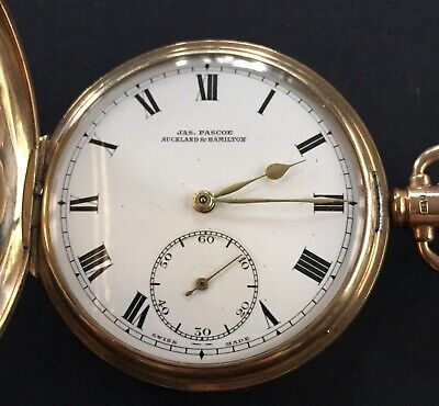 £901.91 • Buy Antiques 9 Ct Solid Gold  Full Hunter  Pocket Watch By Jas.Pascoe Working