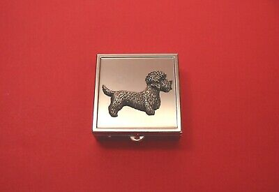 £12.99 • Buy Dandie Dinmont Pewter Motif Square Mint / Pill Box Vanity Mirror Mother Gift NEW