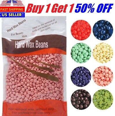 $1.49 • Buy 300g Hard Wax Beans Beads Refill Body Hair Removal No Strip In Lavender Rose