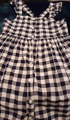 Girls Next Black And White Checked Dress £5 Age 6 • 5£