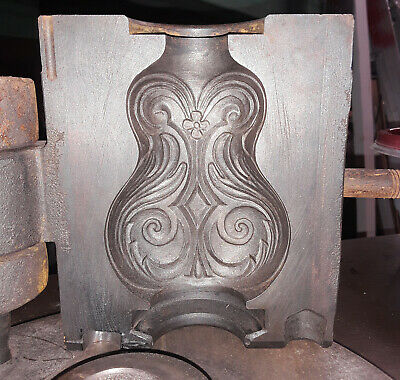 $220 • Buy Original Iron Scroll Flask Three Piece Bottle Mold From The Indiana Glass Co.
