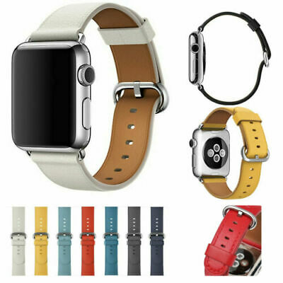 $ CDN12.20 • Buy Genuine Leather Band Strap For Apple Watch Series 5 4 3 2 1 42mm 38mm 44mm 40mm