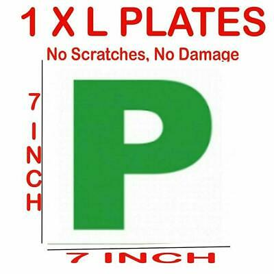 1 X P PLATE MAGNETIC SECURE GREEN NEW DRIVER PLATES PASSED FOR CAR VEHICLE SIGNS • 1.75£