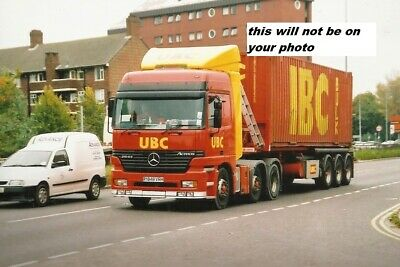 Truck Photo / Print Mercedes-benz Container Load Ubc Y848 Vrh • 0.99£