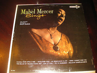 $14.99 • Buy Mabel Mercer; Sings W/orchestra Directed By Ralph Burns On LP