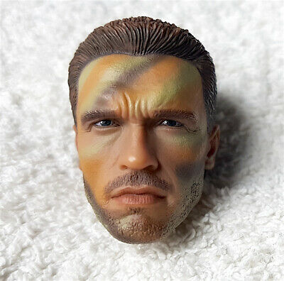 $ CDN131.66 • Buy 1/6 Hot Toys PREDATOR Major Alan Dutch Schaefer Head Sculpt Figure 12 Inch Doll