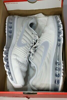 $114.99 • Buy Nike Air Max 2017 White Wolf Grey Running Shoes 849559 009 Men Size 10 FAST!