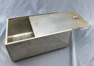 $19.99 • Buy Large Vintage Tin Metal Bread Box Sliding Cover Vented
