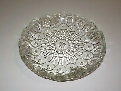 $9.99 • Buy Vintage Clear Glass Ashtray L E Smith Moon And Star Design Heavy