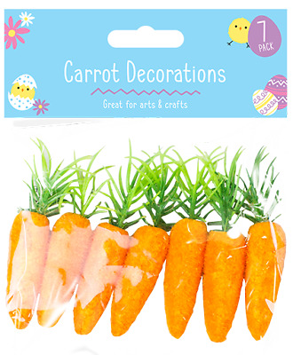 Easter Bonnet Carrot Decorations Party Pack 7 Craft Bunny Egg • 1.99£