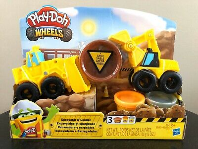 $17.95 • Buy NEW Play-Doh Wheels Excavator & Loader Toy Construction Trucks