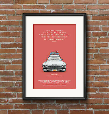 Ghostbusters, Ecto 1, Horror, Bill Murray, Cadillac, Comedy, Movie Art, A3 Print • 7£