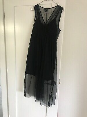 Topshop Sheer Dress With Cami Size 8 • 10£