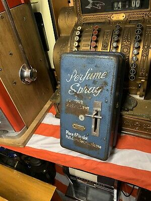 Vintage Coin Operated Perfume Vending Machine  • 290£