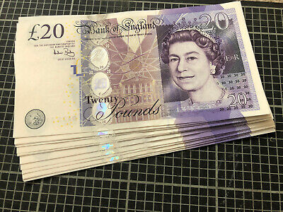 £30.94 • Buy Unused Paper £20 Note UNC Twenty Pound Sequential  Andrew Bailey 1st Class Post