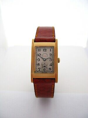 Vintage Record Rectangular Art Deco Watch 1920's All Original And Serviced • 322.26£