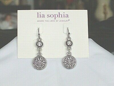 $ CDN20.18 • Buy Gorgeous Lia Sophia  SCRAPBOOK  Dangle Earrings, Cut Crystals, NWT