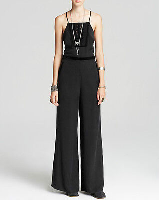 $53 • Buy NWT FREE PEOPLE Velvet Trim Tuxedo Jumpsuit In Black $198 - 10