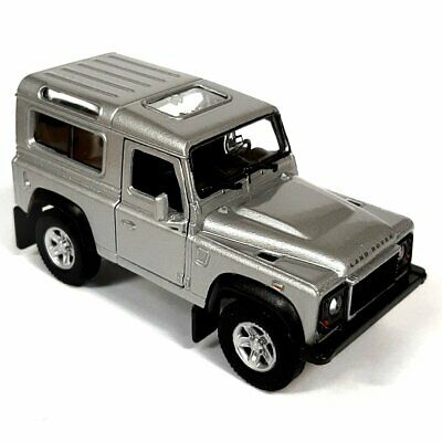 1/38 Scale Die Cast SILVER Land Rover Defender - Model Toy Car - Diecast Gift • 12.99£