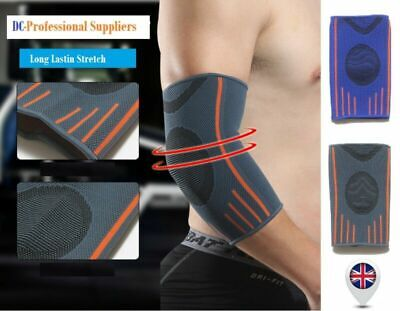 Elbow Support Compression Sleeves Arm Tennis Golfers Gym Arthritis Strap Brace • 3.23£