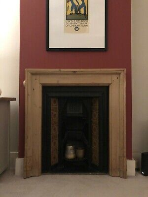 Victorian Style Tiled Cast Iron Fireplace Insert And Grate • 0.99£