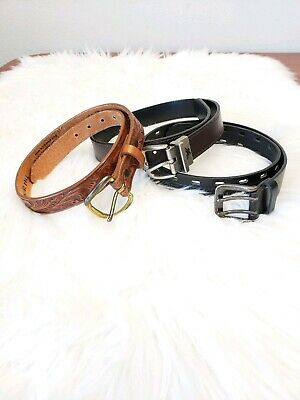 $3.50 • Buy Boys Belt Lot 1 Justin Belt And 2 Others