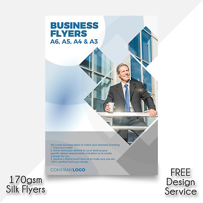 £4.91 • Buy Business Leaflets Full Colour Single / Double Sided | A3 A4 A5 A6 Flyer Printing
