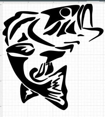 $6.99 • Buy Bass Fishing Decals Stickers, Apx 8x8 Inches. 7 Color Choices.