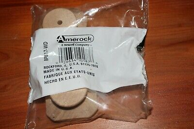 $2 • Buy Squarewooden Knobs - 2 In A Bag - Plain Wood - 1 3/4  Wide - New - + 2 Screws
