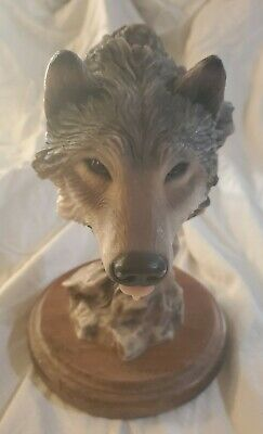 $74.99 • Buy 1993 Mill Creek Studios Before The Chase Wolf Sculpture Signed Herrero 93
