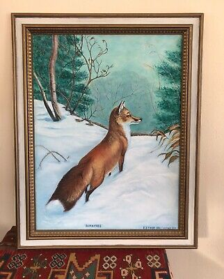 $ CDN262.55 • Buy Estate Esther Matthews Enchanting Original Painting A Fox BORN FREE Framed Art