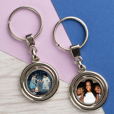 £4.99 • Buy Personalised Photo Keyring Chain Mothers Day Gifts For Grandma Nanny Print Metal