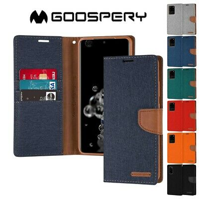 AU12.99 • Buy For Samsung Galaxy S21 / Plus/ Ultra / S20 FE Canvas Flip Card Cover Wallet Case