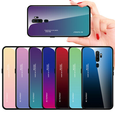 AU7.99 • Buy For OPPO A9 (2020) A33 A35 A39 A79 Gradient Tempered Glass Hard Back Case Cover