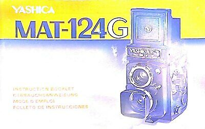 YashicaMat 124G User Manual Instructions Booklet Directions • 18.75£