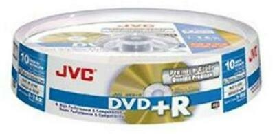 £5.99 • Buy JVC DVD+R RECORDABLE High Performance 4.7GB 120min 10 Disc Spindle